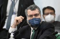 Ernesto Araújo nega existência de política internacional única contra pandemia nega existência de política internacional única contra pandemia (crédito: Jefferson Rudy/Agência Senado )