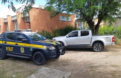 PRF recupera caminhonete desaparecida de locadora há quase dois anos (Foto: Divulgação/PRF.)