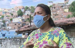 'Eu pedi para Jesus tirar a minha vida e dar a ele', diz mãe de Miguel (Foto: Reprodução/TV Globo )