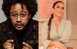 Emicida e Ivete Sangalo cantam sobre boas vibrações em parceria inédita (Foto: Julia Rodrigues/Divulgação e Reprodução/Instagram @ivetesangalo )