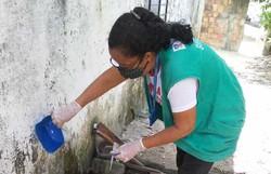 Agentes de Controle de Endemias fazem mutirão na 1ª Etapa de Rio Doce (Foto: Divulgação )