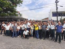 Frente de Luta repudia demissões de rodoviários na RMR (Foto: Sindicato dos Rodoviários de Pernambuco/Divulgação  )