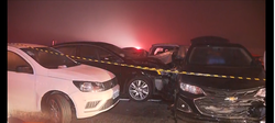 Engavetamento com 22 veículos deixa ao menos 8 mortos e dezenas de feridos no PR (Foto: TV Globo / Reprodução)