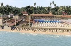 Investimento em beach club e hotel all inclusive na Praia de Guadalupe (Foto: Perspectiva LUP Beach Club/Divulgação)