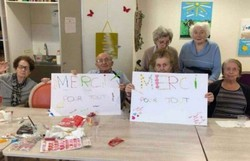 Como casa de repouso francesa confinou mais de 100 idosos sem perder humor (Foto: Arquivo Pessoal / Valerie Martin)