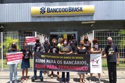 No Recife, funcionários do BB realizam Dia Nacional de Luta (Foto: Sindicato dos Bancários de Pernambuco/Divulgação )