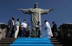 Cristo Redentor reabre para o público no Rio de Janeiro (Foto: FABIO MOTTA / AFP )