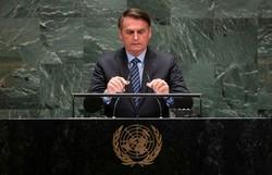 Discurso de defesa de Bolsonaro na ONU tem mais Trump e menos Olavo (Foto: AFP/Johannes EISELE)