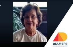 UFPE lamenta falecimento da professora Marília Pessoa Monteiro, vítima da Covid-19