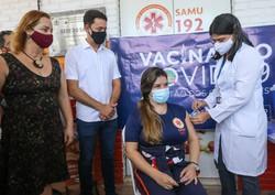 Jaboatão inicia vacinação contra a Covid-19 e terá agendamento on-line  (Leandro de Santana/Prefeitura de Jaboatão)