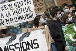 Na Fran�a, manifestantes exigem mais a��o diante da crise clim�tica (AFP)