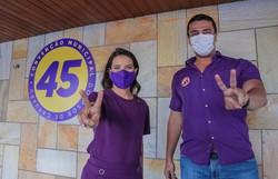 Raquel Lyra recebe sugestões para programa de governo (Raquel Lyra e o candidato a vice Rodrigo Pinheiro. Foto: Divulgação)