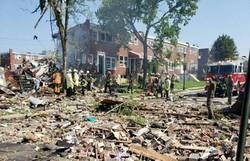 Explosão em rede de gás destrói casas e deixa uma pessoa morta nos EUA (Foto: Twitter/Reprodução/Baltimore County Fire Department)