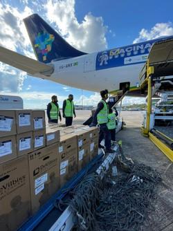 Concentradores de oxigênio enviados por Pernambuco chegaram no Amazonas ontem  (Divulgação)