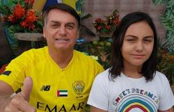 """""""Laura é fortíssima candidata para 2022"""", brinca Bolsonaro (Foto: Reprodução/ Facebook)"""