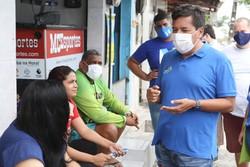 Mendonça Filho (DEM) 'cutuca' Delegada Patrícia (Podemos) em guia eleitoral (Foto: Divulgação)