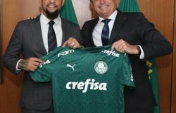 Bolsonaro posta foto com Felipe Melo após classificação do Palmeiras (Foto: Reprodução / Redes Sociais)