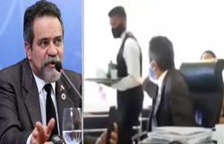 'Sai daí', diz secretário do Ministério da Saúde para garçom durante live (Fotos: Júlio Nascimento/Presidência e Reprodução/YouTube)