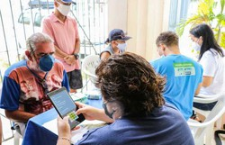 Recife inicia vacinação itinerante contra a Covid-19 em 14 comunidades (Foto: Richardson Martins/Secretaria de Saúde do Recife)