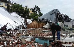 Defesa Civil levanta danos causados pela passagem de ciclone em SC (Foto: Divulgação/Defesa Civil de Santa Catarina)