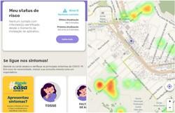 Recife incorpora painel para avaliar riscos de contaminação pelo novo coronavírus (Foto: Reprodução/DyCovid.)
