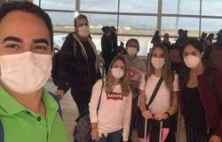 Avião com brasileiros repatriados na África do Sul chega a São Paulo (Foto: Arquivo Pessoal/Divulgação)