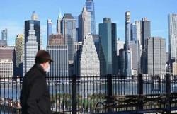 Taxa de contágio do coronavírus começa a aumentar em Nova York (Foto: ANGELA WEISS / AFP)