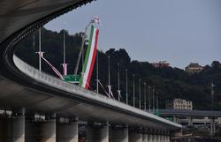 Itália inaugura nova ponte de Gênova dois anos após tragédia (Foto: Luca ZENNARO / POOL / AFP)
