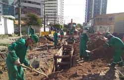 Compesa inicia nova obra de instalação de rede de esgoto em Boa Viagem (Foto: Divulgação/Compesa.)