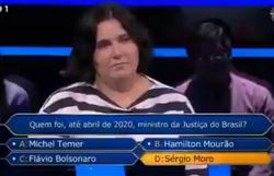 Na TV, portuguesa diz que presidente do Brasil se chama 'Fora Bolsonaro' (Foto: Reprodução)