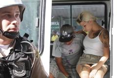 Sarah Winter, líder de grupo extremista, já foi presa no Recife (Foto: Bruna Monteiro DP/D.A Press)