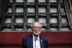 Sobreviventes idosos fazem últimos apelos 75 anos após bombardeio atômico no Japão (Terumi Tanaka, de 88 anos, sobreviveu à bomba atômica em Nagasaki. Foto: Behrouz MEHRI / AFP)