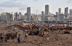 Área da explosão em Beirute fica próxima a construções históricas e pontos turísticos (Foto: STR/AFP)