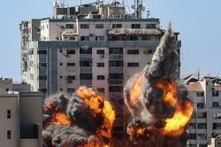 Ataque a prédio em Gaza, onde operavam veículos de comunicação, foi 'legítimo', diz Netanyahu (Mahmud Hams / AFP  )