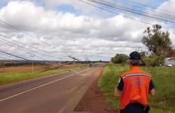 Chuva deixa mais de 250 mil pontos sem energia no Paraná (Foto: Polícia Militar de Foz do Iguau/Divulgação)