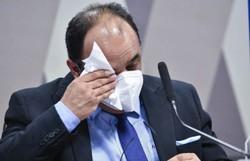 Reverendo chora em CPI e se diz arrependido de negociar vacinas (Foto: Leopoldo Silva/Agência Senado)