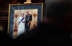 Elizabeth II sente um 'grande vazio' pela morte do príncipe Philip, diz seu filho Andrew (Bianca DE MARCHI / POOL / AFP)