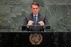 Bolsonaro leva comitiva de 18 pessoas para ONU e diz que 'falará verdades' (crédito: Johannes Eisele/AFP)
