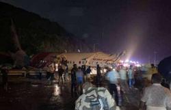 Avião com cerca de 200 pessoas se parte ao pousar na Índia; há mortos e feridos (Foto: Reprpdução)