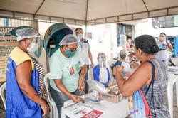 Prefeitura do Recife monta estações itinerantes para reforçar cuidados com a Covid-19 (Foto: Andréa Rêgo Barros/PCR/Divulgação)
