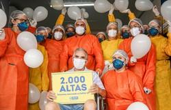 2000º paciente curado em Hospital de Campanha do Recife recebe alta (Foto: Andréa Rêgo Barros/PCR.)