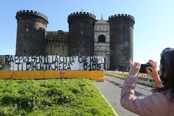 O comovente adeus de Nápoles ao seu ídolo 'imortal' (Foto: Carlo Hermann / AFP)