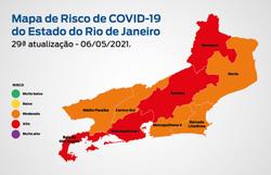 Capital e Baixada Fluminense mantêm alto risco de transmissão da Covid