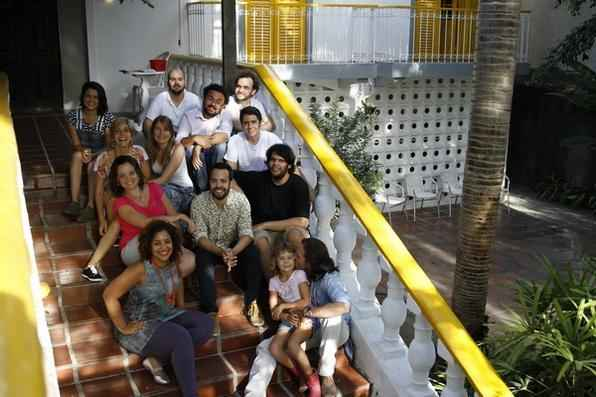 Na foto, equipe de empresarios que compoe a equipe do coletivo. -
