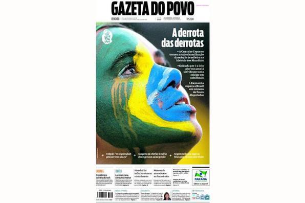 Como não podia deixar de ser, a derrota histórica do Brasil repercutiu em toda a imprensa nacional e estrangeira. Confira algumas das principais capas de jornais do mundo. -