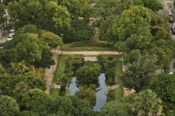 Praça de Casa Forte (1934) foi o primeiro jardim público projetado por Burle Marx. Foto: Arthur de Souza/Esp. DP/DA Press -