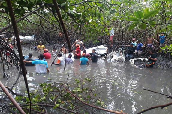 FOTOS DO DIA  (Local do acidente onde caiu o avião do cantor Gabriel Diniz e vitimou mais 3 pessoas, nesta segunda ferira (27). Foto: Reprodução Internet)