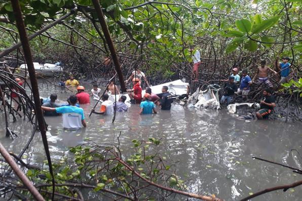 Local do acidente onde caiu o avião do cantor Gabriel Diniz e vitimou mais 3 pessoas, nesta segunda ferira (27). Foto: Reprodução Internet -