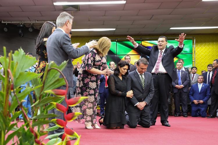 FOTOS DO DIA - 27 de Novembro de 2019 (Presidente Jair Bolsonaro participa de culto em Manaus, nesta quarta feira (27). Foto: Carolina Antunes/PR.)