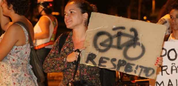 Ciclistas do Recife já são conhecidos pelo seu ativismo por um trânsito mais humano. Na foto, protesto por mais segurança no campus da UFPE. Nando Chiappetta/DP/DA Press/Arquivo (Nando Chiappetta/DP/DA Press)